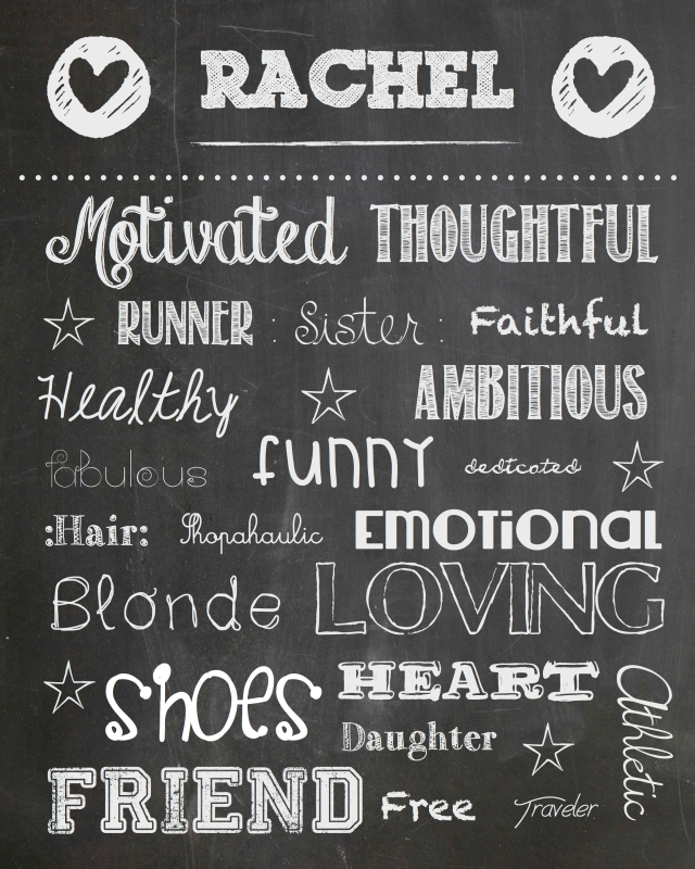 Rachel's Chalkboard Poster