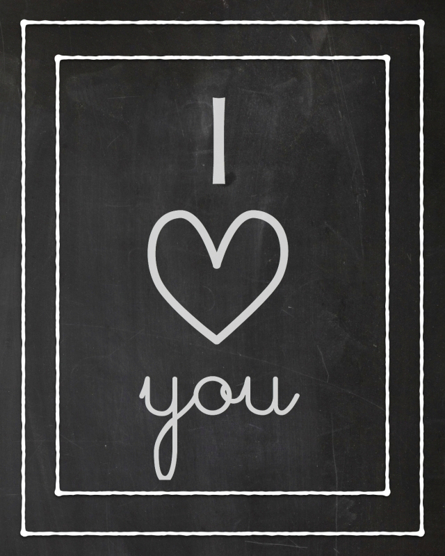 I Love You - Free V-day Print - 8x10