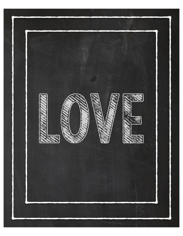 Love - Chalk 8x10