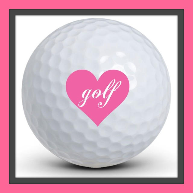 Love Golf Ball