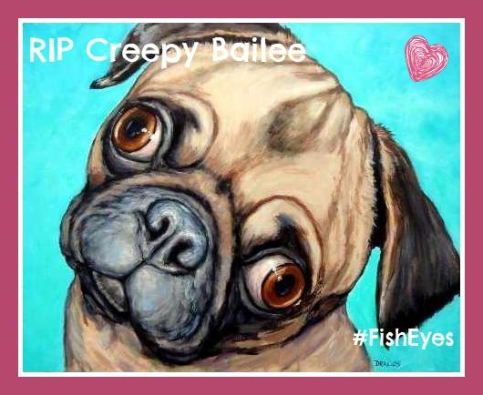 RIP pug art