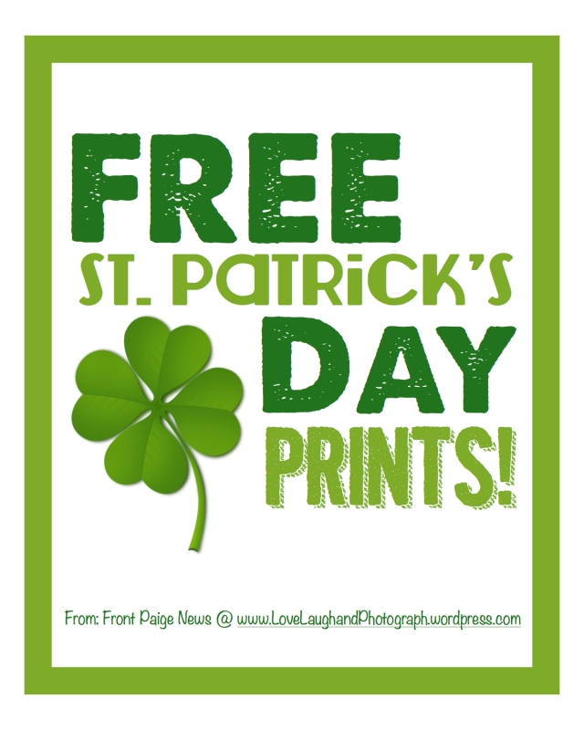 St. Patty's Day Free Prints 8x10