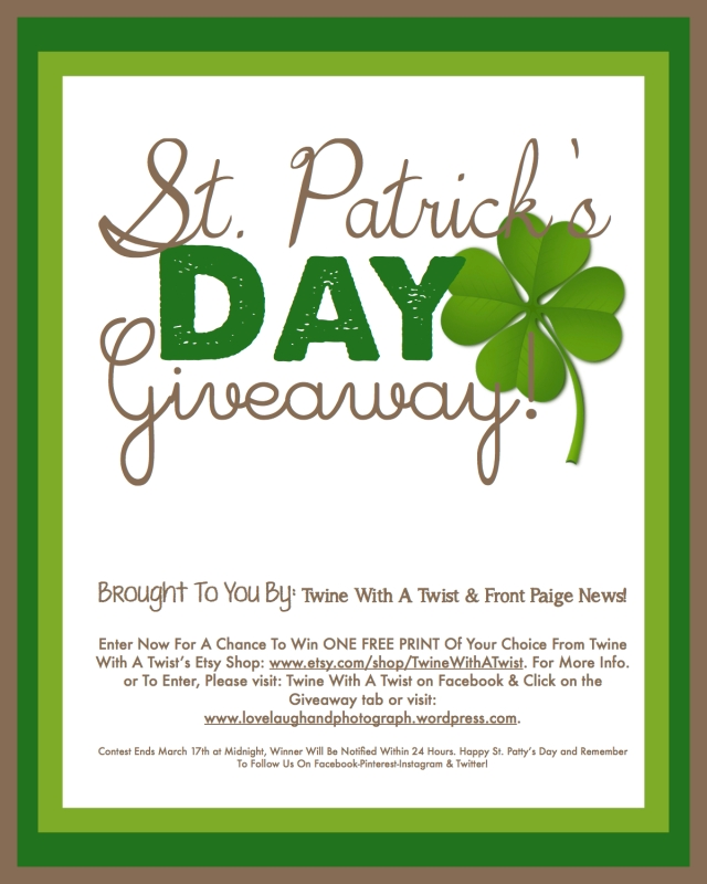 St. Patty's Day Giveaway